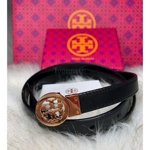 Tory Burch Reversible Rotating Patent leather Belt
